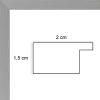 profil cadre photo plat gris