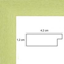 profil cadre photo vert strié