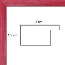 profil cadre photo plat rouge
