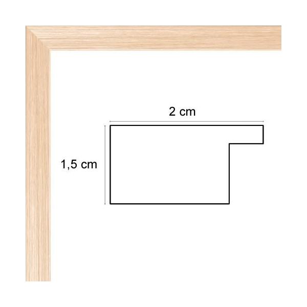 cadre photo plat bois naturel 2 cm cadre tout format encadrement bois plat bois naturel pour photo. Black Bedroom Furniture Sets. Home Design Ideas