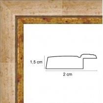 profil cadre photo rio ivoire filet doré