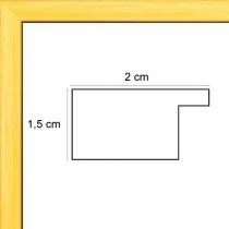 profil cadre photo plat jaune