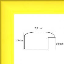 profil cadre photo plat laqué jaune