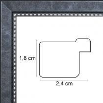 profil cadre photo noir pointillé argent