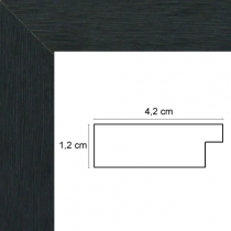 profil cadre photo noir strié