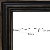profil cadre photo noir cérusé