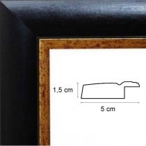 profil cadre photo large noir filet or