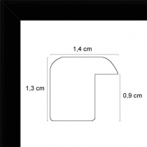 Cadre photo plat mat noir