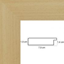 profil cadre photo plat bois naturel