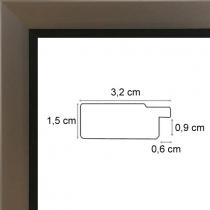 profil cadre photo acier bord wengué