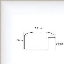 profil cadre photo plat laqué blanc