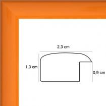 profil cadre photo plat laqué orange