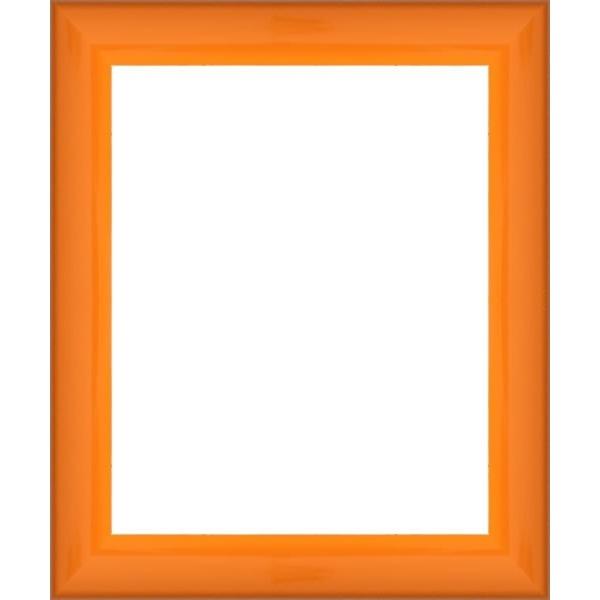 encadrement photo plat laqu orange votre cadre photo laqu orange sur mesure personnalis. Black Bedroom Furniture Sets. Home Design Ideas