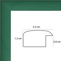 profil cadre photo plat laqué vert