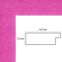 profil cadre photo fushia strié
