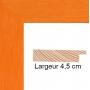 profil cadre photo orange strié