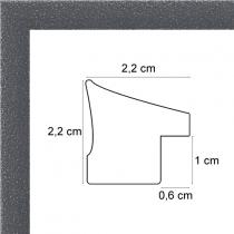 profil cadre photo gris tacheté blanc