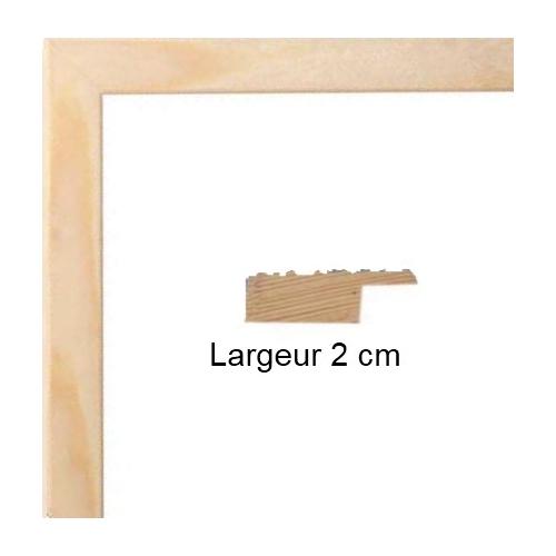 cadre photo sur mesure bois plat bois naturel avec verre et dos votre cadre photo sur mesure. Black Bedroom Furniture Sets. Home Design Ideas