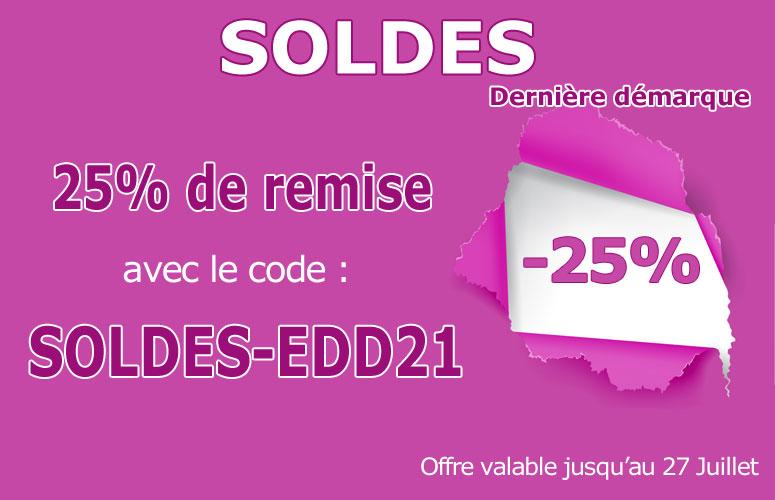 25% de remise avec le code SOLDES-EDD21